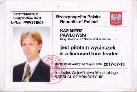 legitymacja pilota wycieczek