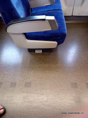 Fotele w pociągu