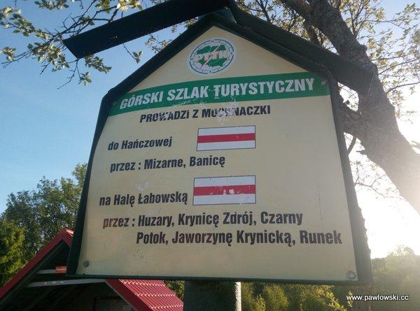 Główny Szlak Beskidzki; Mochnaczka Niżna - Bacówka PTTK wBartnem 6