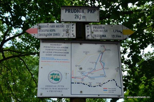 Główny Szlak Sudecki; Górski Dom Turysty podBiskupią Kopą - Prudnik PKP 27